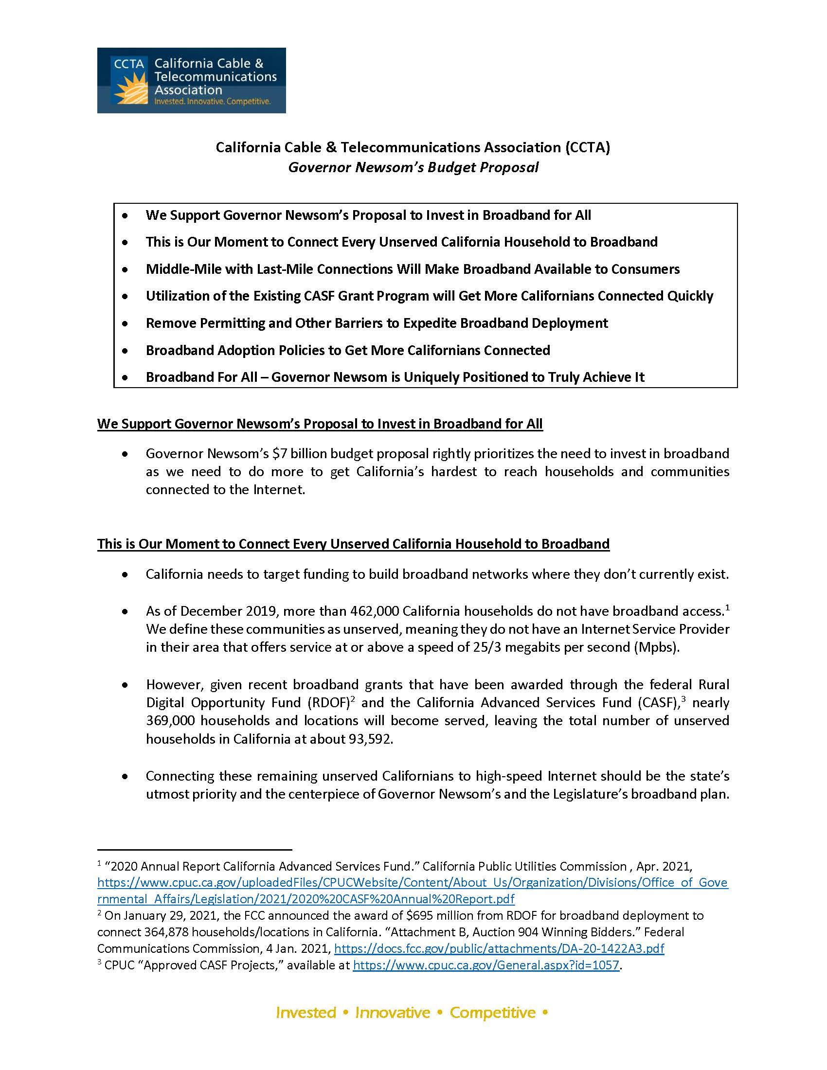 CCTA Overview_Governor Newsom's Broadband Proposal_Final_Page_1
