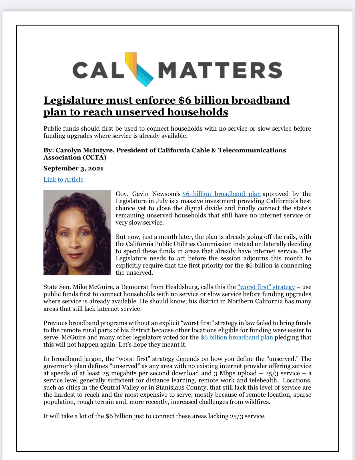 CalMatters Op Ed UNSERVED