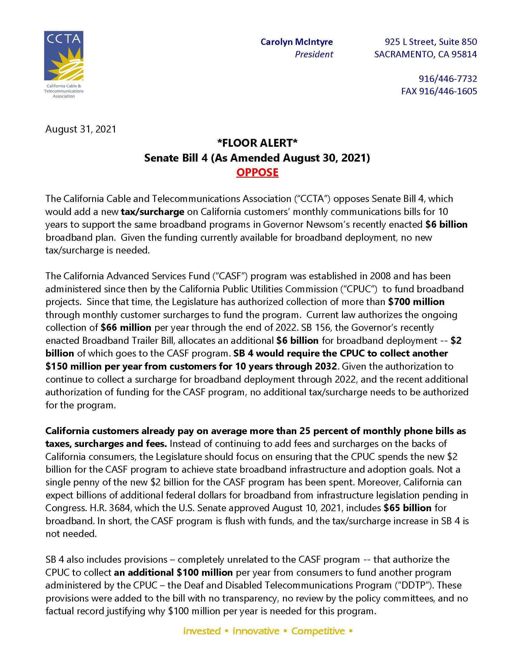 SB 4 (Gonzalez) CCTA Opposition Floor Alert 8.31.21_Page_1